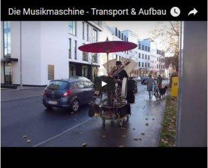 Transport und Aufbau der Musikmaschine