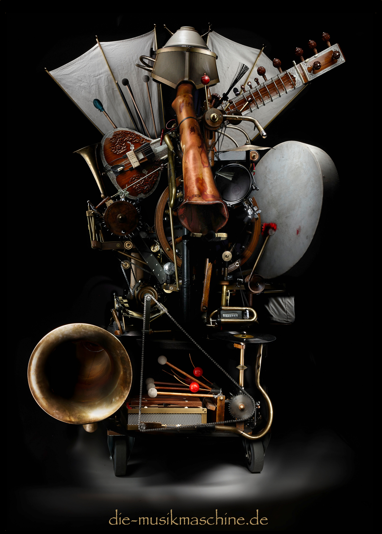 Postkarte GöG Die Musikmaschine